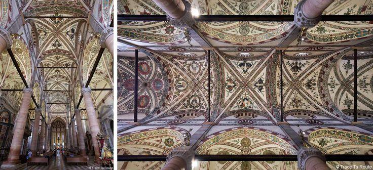 Plafond décoré de la Nef de la Basilique Sant'Anastasia de Vérone - Chiesa San Pietro da Verona in Santa Anastasia Basilica