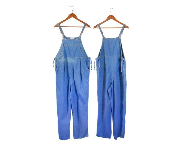 Maternity Clothes Women Denim Overalls 90s Vintage by #ShineBrightVintage