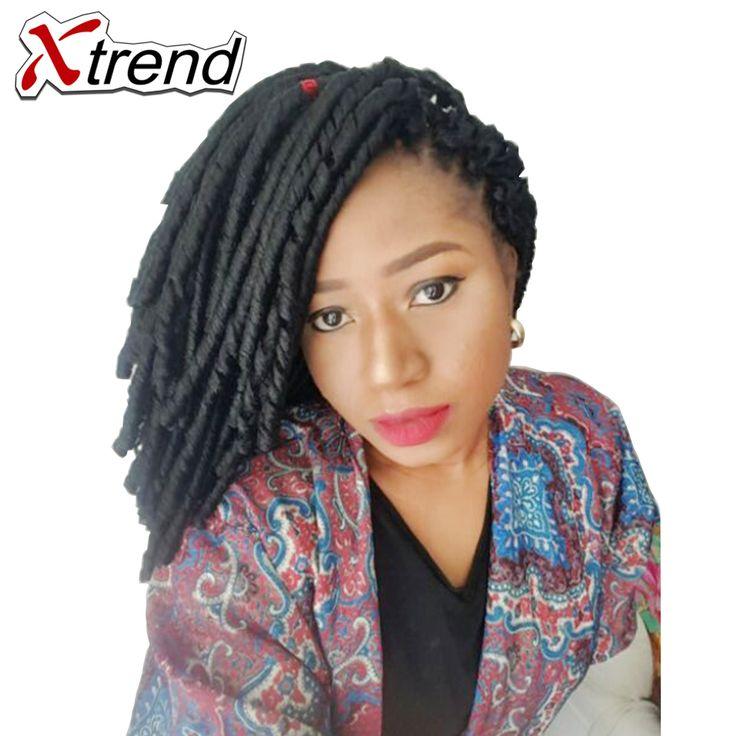 Xtrend Synthetic Soft Dreadlocks Crochet Twist Hair 14inch 30roots 70g Black Brown Bug Kanekalon Braiding Hair Extensions 10PCS #Affiliate