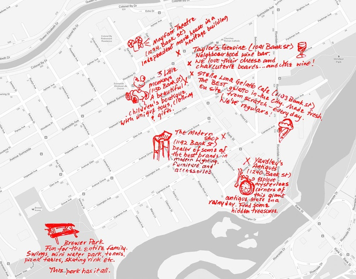 So many reasons to come visit us in Old Ottawa South! #oldottawasouth #ottawa Old Ottawa South map
