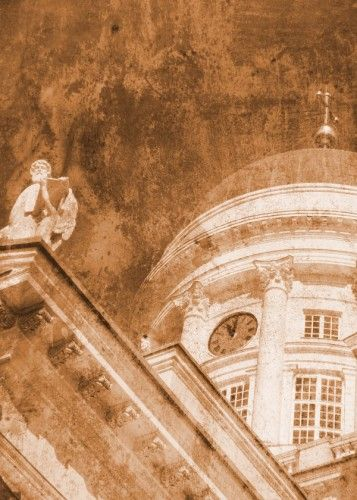'Vintage helsinki Cathedral' Steel poster by Alan Hogan @displate #displate #metalprints #photography #vintage #sepia #mottled #architecture #finland #finnish #churches #cathedrals #helsinki #european #europe #nordic