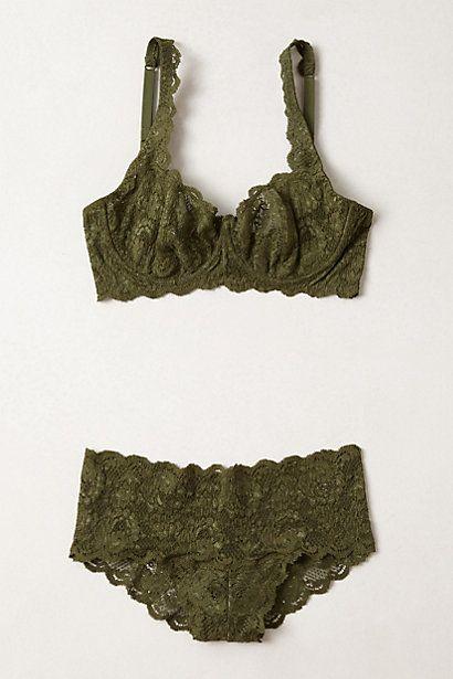 Emerald Lace Bra - anthropologie.com