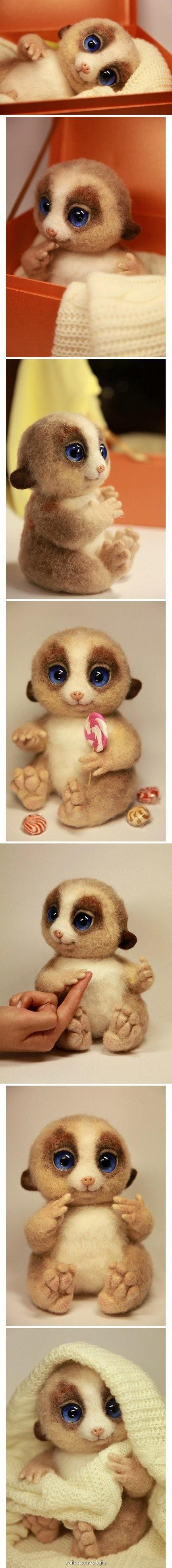 Needle Felted by Akajai - This is excellent - love the detail around the eyes.