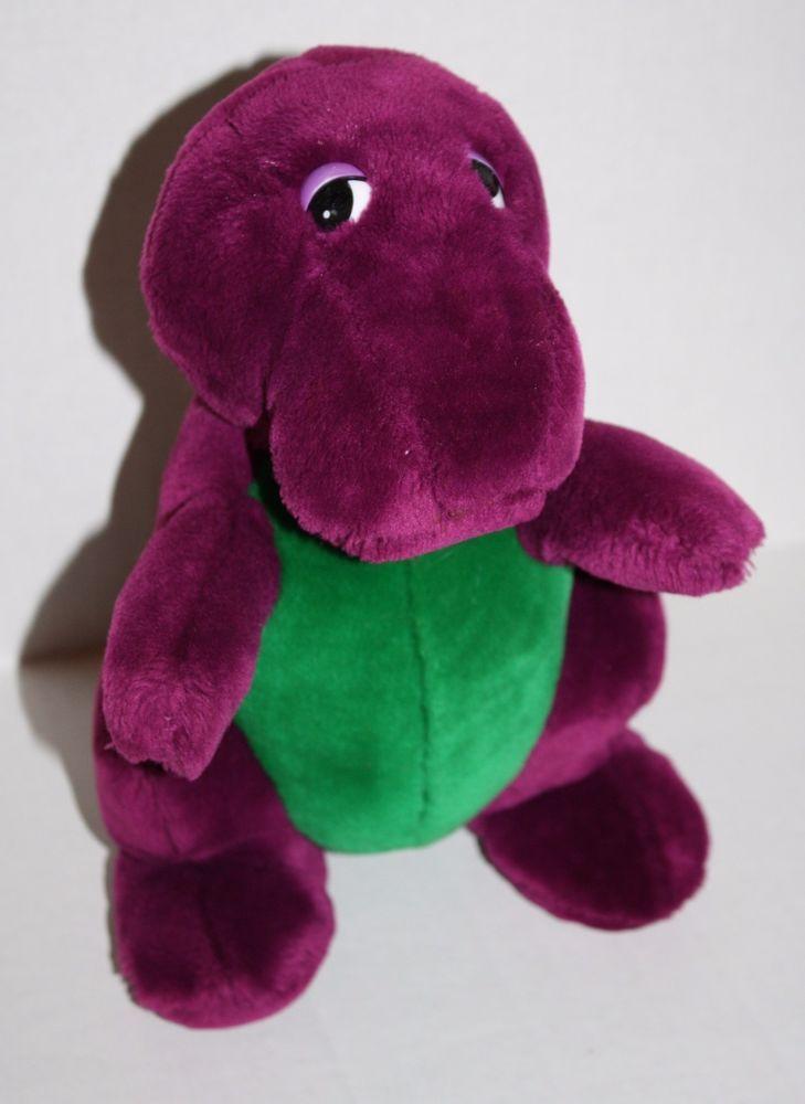 "Dakin Vtg Original BARNEY THE DINOSAUR 10"" Backyard Gang 90's Plush Purple Lyons #Barney #PlushBarney"