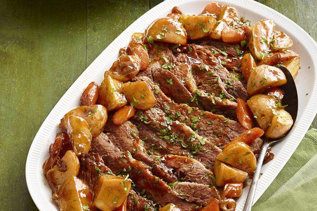 Marinée dans une sauce barbecue et garnie de persil frais, cette pointe de poitrine de bœuf est tout ce qu'il y a de plus réconfortant! De plus, elle ne prend que 25 minutes à préparer!
