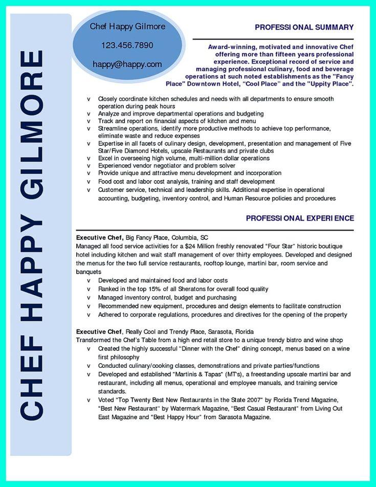 Chef resume」のおすすめアイデア 25 件以上 Pinterest 履歴書の - executive chef resume sample