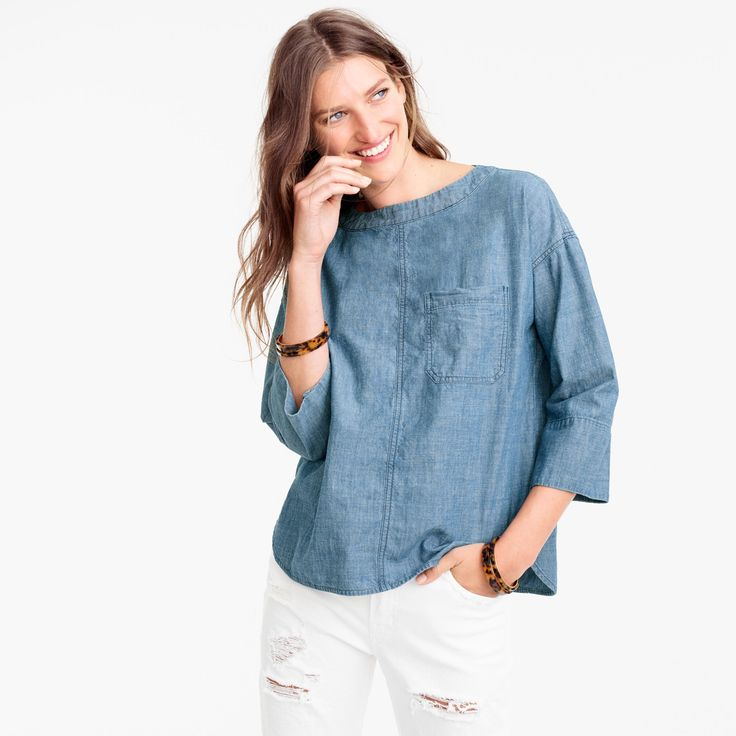 Chambray swing top | J.Crew