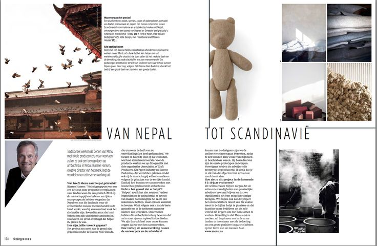 FEELING WOHNEN - Dutch magazine.  Interview with Owner and Founder, Bjarne Hansen, about Nepal Projects