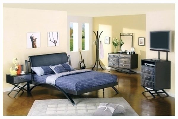 liam full size bed and nightstand bedroom set