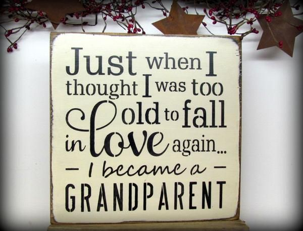 Grandparent Wood Sign Saying, Becoming a grandmother, Handmade Signs for All Occasions.