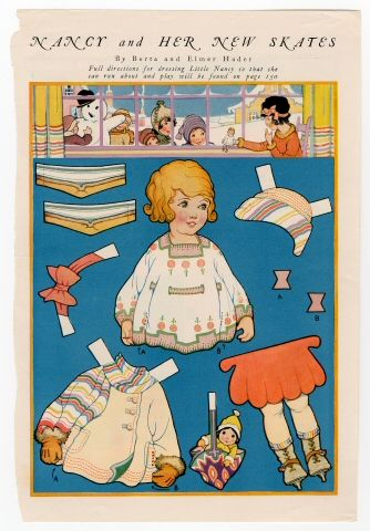 86.3063: Nancy and Her New Skates | paper doll | Paper Dolls | Dolls | National Museum of Play Online Collections | The Strong