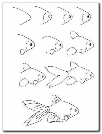 Apprendre a dessiner un poisson ll21 montrealeast - Dessiner un poisson facilement ...