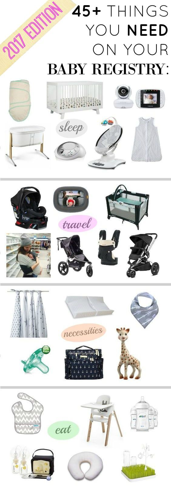 Over 45 baby registry must-haves! Updated for 2017! | Baby Registry Must Haves | What you need on your baby registry || Katie Did What