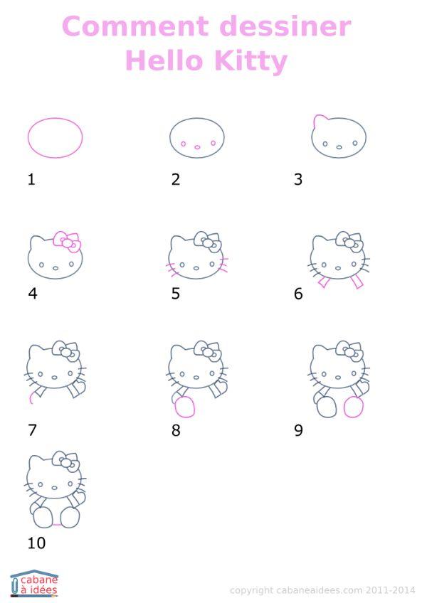 0470001 dessiner Hello Kitty