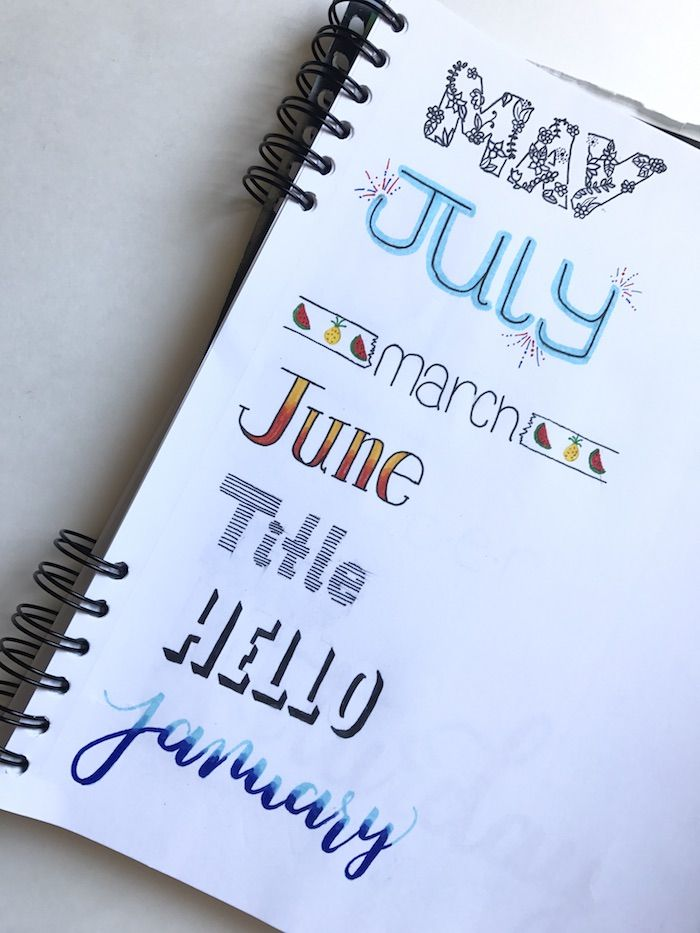 Bullet journal headers