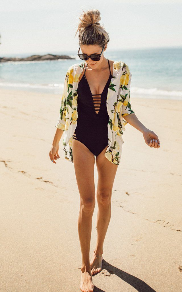 We can smell the salty air every time we look at this Lemon Swim Cover up, we are beach ready in this light airy lemony printed: Lemon Swim Cover Up. One size fits all. Pair with a tank and shorts or