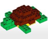 Schildpad van lego (makkelijk)