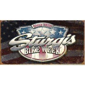 Mustang Sturgis Bike Week Metal Sign