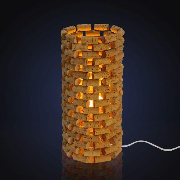 Idée cadeau Noël : les luminaires en bouchons de liège de l'Atelier Stéphanie