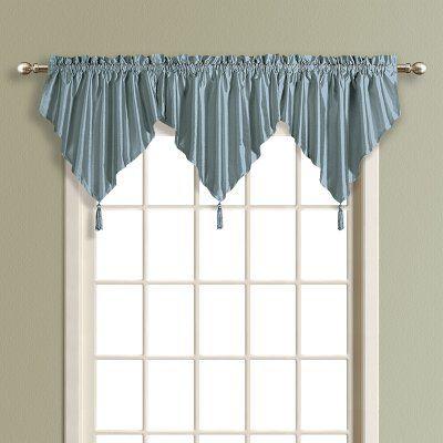 United Curtain Anna Faux Silk Ascot Valance - ANASCNT