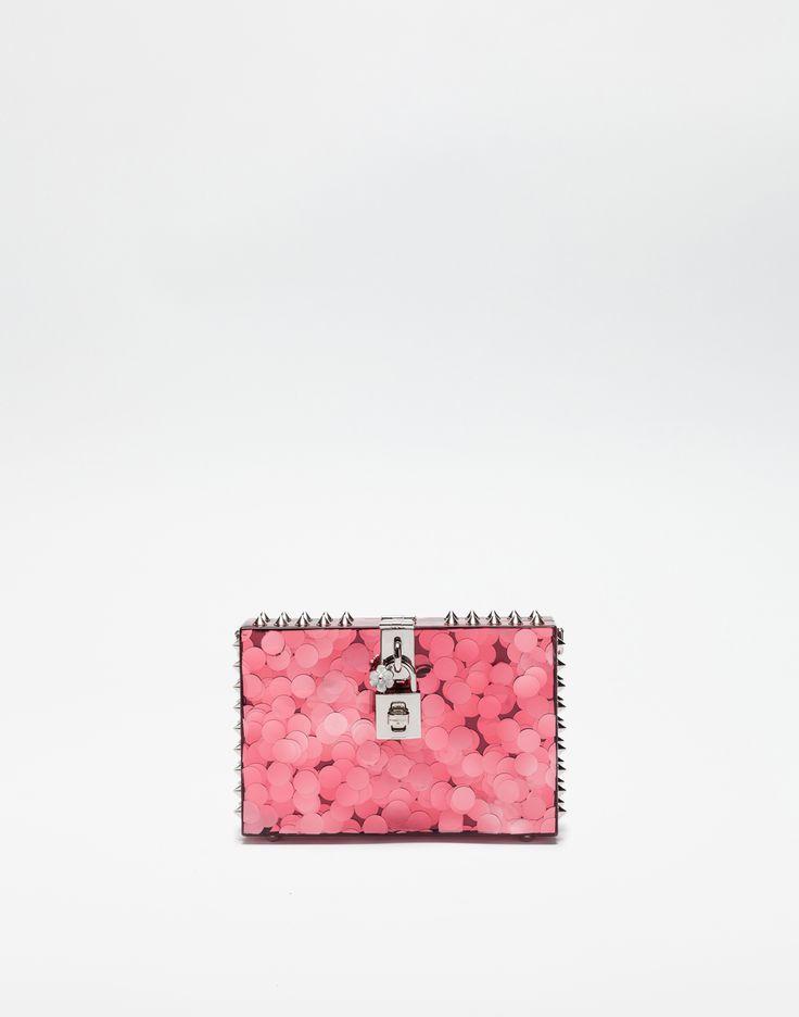 Dolce Box clutch - Pink & Purple Dolce & Gabbana IKXPPPR