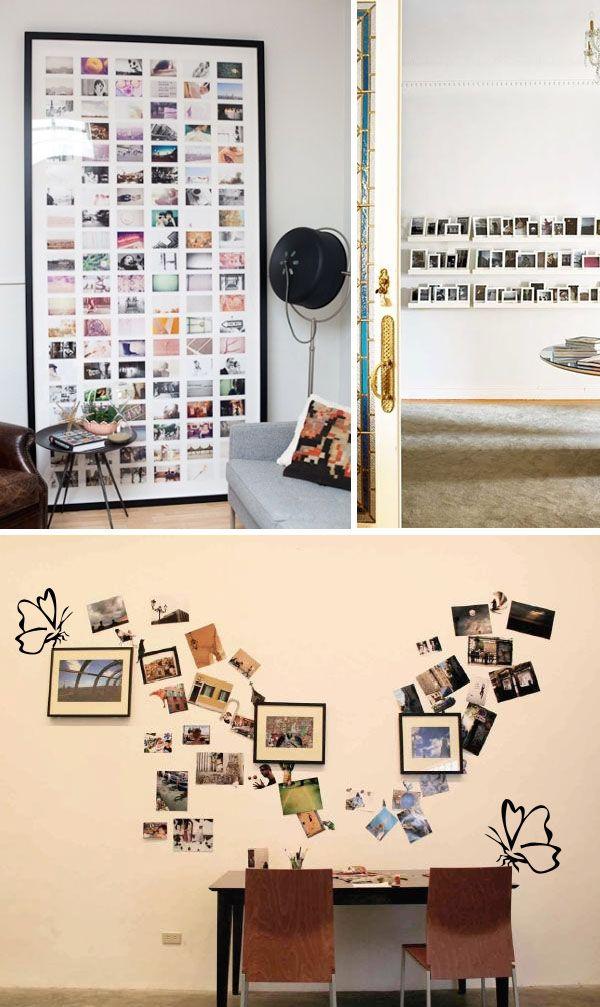 Te proponemos unas imágenes de inspiración para decorar tus paredes con fotos. Una manera fácil y económica de crear un ambiente muy personal en tu casa.