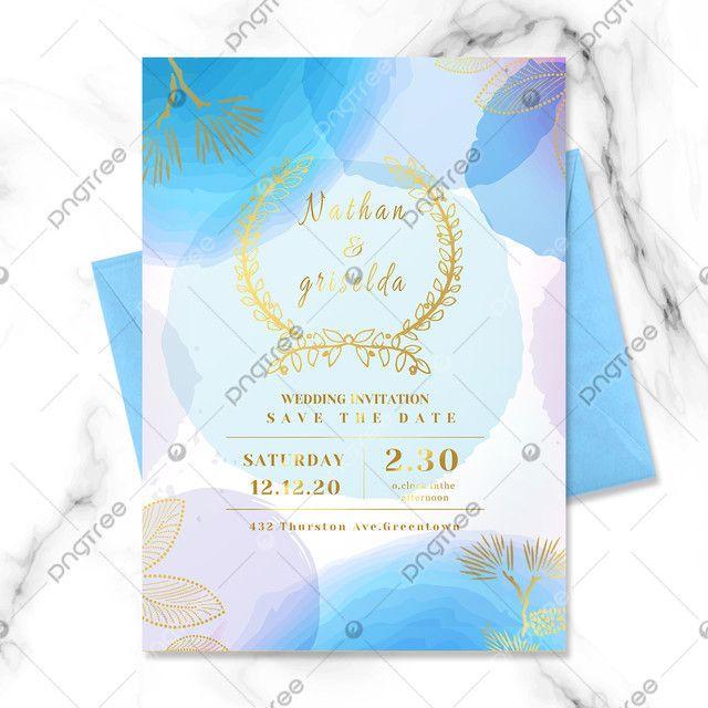 دعوة زفاف رومانسي مع الورد Wedding Invitations Invitations Watercolor Wedding Invitations