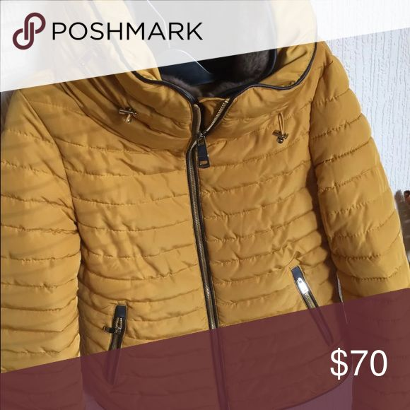Zara mustard yellow puffer jacket Great condition! Great price! I'm moving soon so everything must go! ❤ Zara Jackets & Coats Puffers