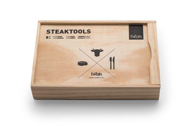 Hochwertig verpackt, das perfekte Geschenk für alle, die gutes Essen schätzen: Die höfats Steaktools.