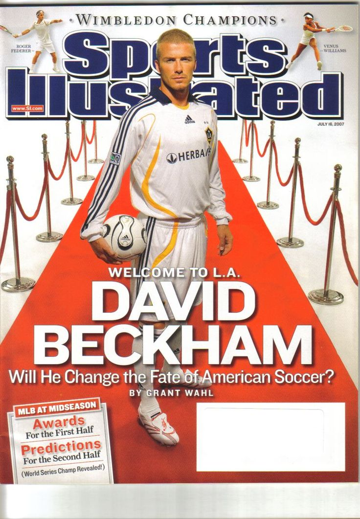 Pin by Robert Darrow on SI Covers in 2020 David beckham