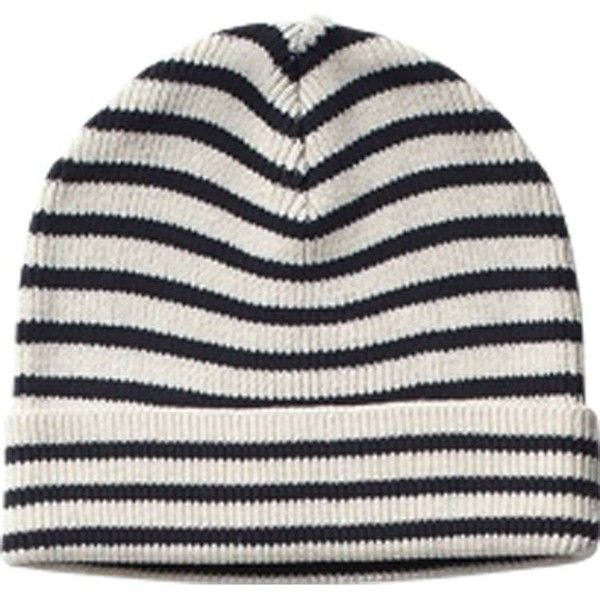 Sailor Striped Beanie ($22) ❤ liked on Polyvore featuring accessories, hats, beanies, headwear, beanie hats, striped beanie hat, cotton hat, scotch & soda and striped hat