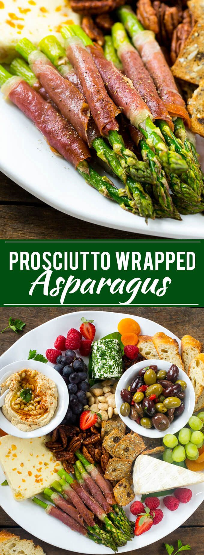 This prosciutto wrapped asparagus is an easy 15 minute appetizer with just 4 ingredients! Plus enter to win a 12 piece dinnerware set! @qsquarednyc #qsquarednyc #ad