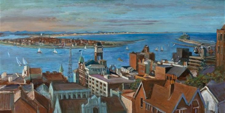 Newcastle Harbour, C1975,  Margret OLLEY