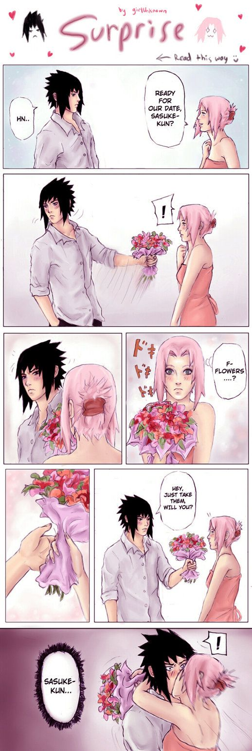 Uhhh yeahh this is just a pointlessly short sasusaku doujinshi-thingy I guess XD EDIT - Many thanks for the 10,000 hits as well Used the font 'Wild Words' for the text Pencil, sai and CS3.