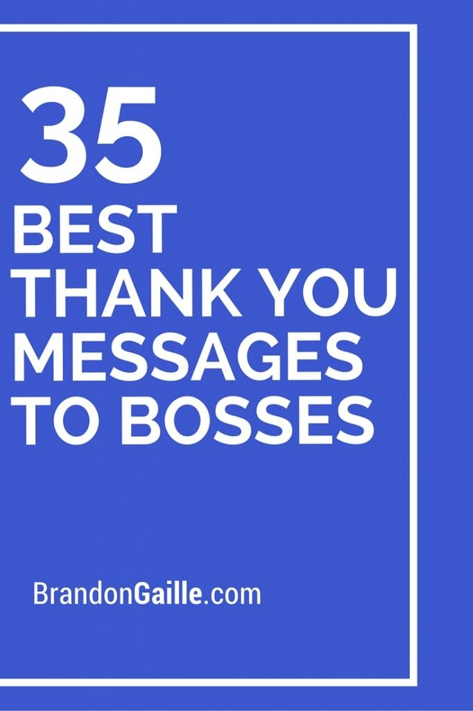 37 Best Thank You Messages To Bosses Messages And
