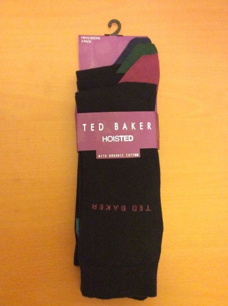 3 TED BAKER HOISTED With Organic Cotton sock set BNWT RRP£20 B coloured hell&toe