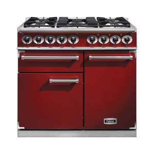 Luxury Falcon Deluxe Dual Fuel Cherry Red FalconAppliances