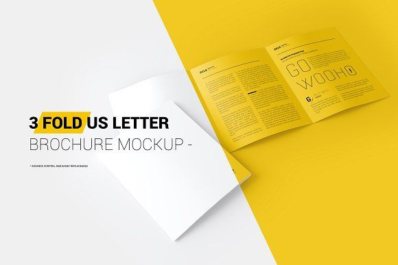 US Letter 3-Fold Brochure Mockup by ToaSin Studio on @creativemarket