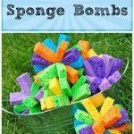 Outside party game- Make Sponge Bombs