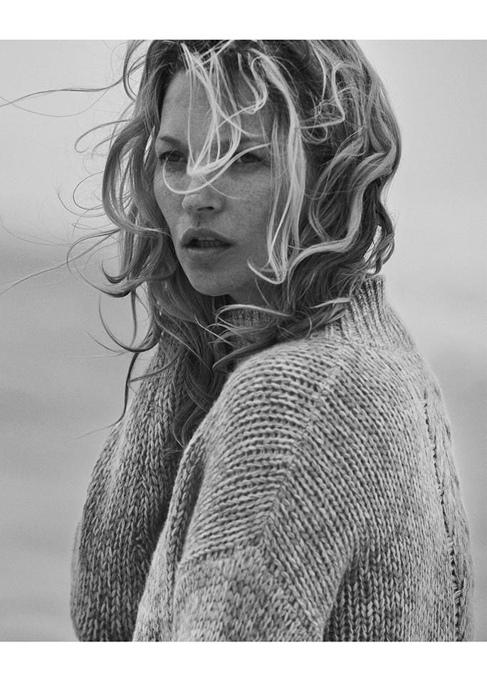 Kate Moss for NAKED CASHMERE by Peter Lindbergh.