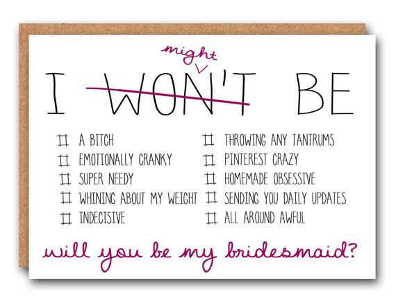 Will you be my bridesmaid Ask card Will you by SimplySaidPaperCo