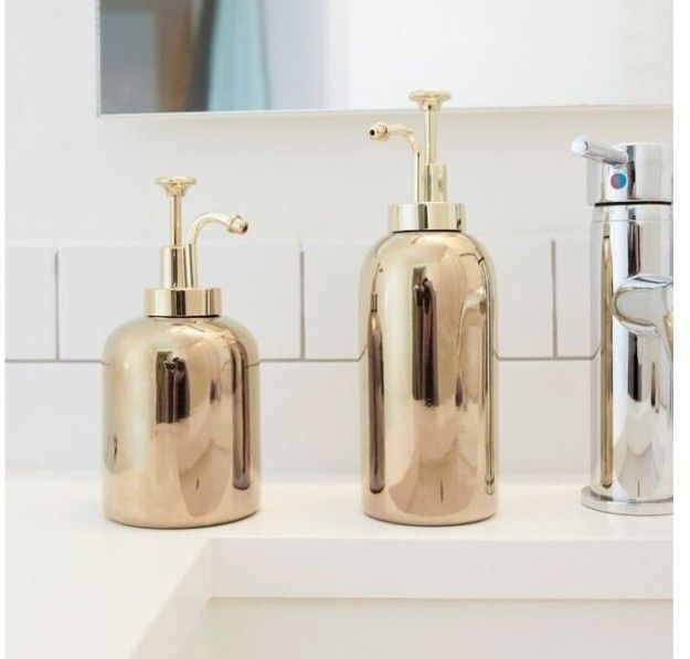 A golden dispenser to fill with the most delicious-smelling lotion or soap.