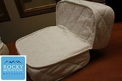Folding Custom RV Mattresses that can be made for any RV and any size made by Rocky Mountain Mattress.
