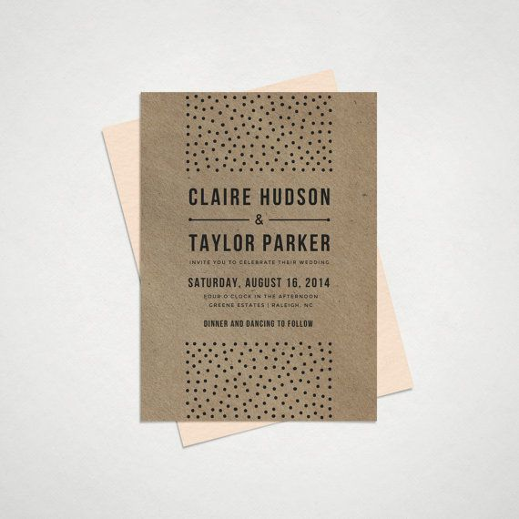 Wedding Invitation Printable DIY Templates  by HitchPaperCo