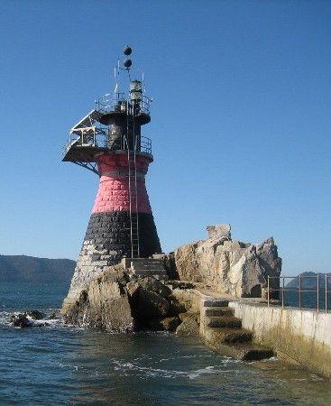 Faro de Habushi Iwa, guardacostas japonés