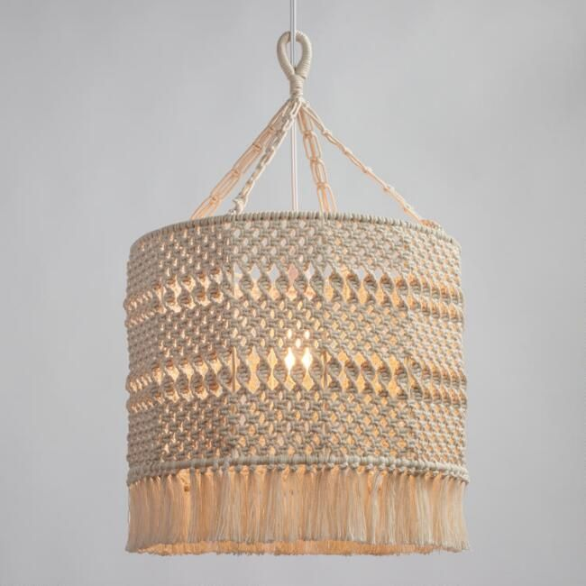 World Market Macrame Lamp Shade... I want to make this!