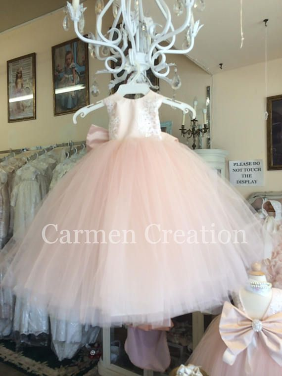6e0d492b083 Our Mini Bride Flower Girl Dress is made from 100 Poly chantue