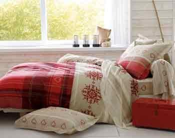 Passez une nuit dans un chalet de haute montagne avec cette parure de lit authentique et chaleureuse. #becquet