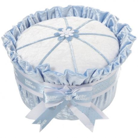 baby shower Gâteau de couches : velours bleu