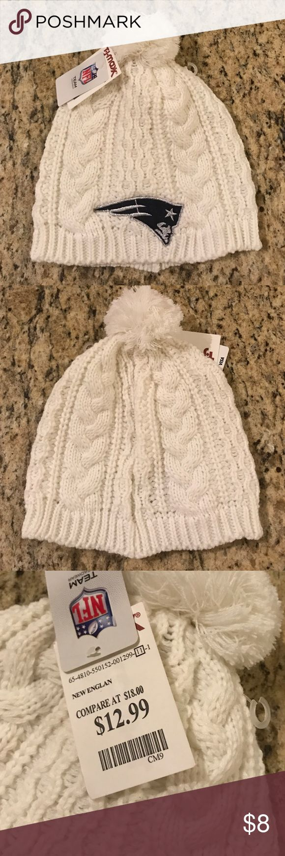 Patriots winter hat for women Women's cream patriots hat purchased from tj max. Never worn, new with tags. Accessories Hats